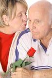 Anniversario degli anziani Fotografia Stock