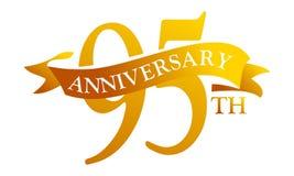 Anniversario del nastro da 95 anni Immagine Stock Libera da Diritti