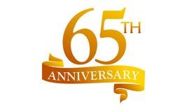 Anniversario del nastro da 65 anni Fotografia Stock