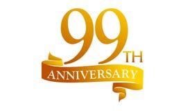 Anniversario del nastro da 99 anni Fotografia Stock