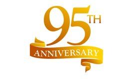 Anniversario del nastro da 95 anni royalty illustrazione gratis