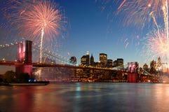 Anniversario del ponte di Brooklyn 125th Immagine Stock Libera da Diritti