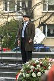 Anniversario della rivolta del ghetto di Varsavia Fotografia Stock Libera da Diritti