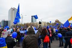 Anniversario di giorno di Europa a Bucarest, Romania Immagini Stock Libere da Diritti