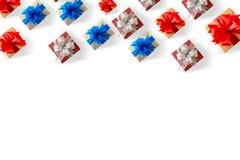 anniversario felice Chri della cartolina d'auguri di festa di Natale del contenitore di regalo Immagine Stock Libera da Diritti
