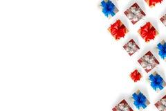 anniversario felice Chri della cartolina d'auguri di festa di Natale del contenitore di regalo Fotografie Stock Libere da Diritti