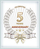 5 anniversary απεικόνιση αποθεμάτων