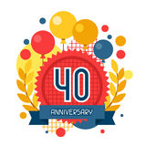 Anniversary abstract background with ribbon and Stock Image