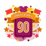 Anniversary abstract background with ribbon and. Decorative elements Stock Photos