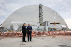 Anniversary of accident on Chornobyl Nuclear Power Plant Stock Images