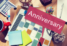 Anniversary Annual Celebration Remember Yearly Concept Royalty Free Stock Images