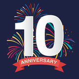 Anniversary background Royalty Free Stock Image