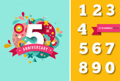Anniversary - background with set of numbers Royalty Free Stock Photos