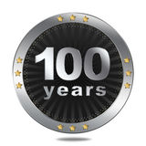 100 Anniversary badge - silver colour. Royalty Free Stock Photography