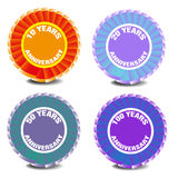Anniversary badges Royalty Free Stock Photos
