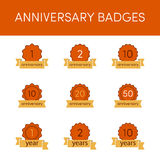 Anniversary badges  Stock Image