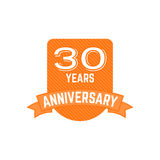 Anniversary badges, signs and emblems collection in different style - retro design, flat. Easy to edit  use your number. Anniversary badges, signs and emblems Royalty Free Stock Photography
