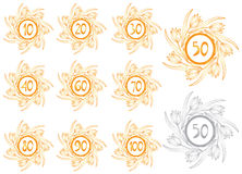Anniversary banners set Royalty Free Stock Photo
