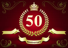 Anniversary or Birthday Card Royalty Free Stock Photos