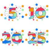 Anniversary, birthday. Anniversary icon. Flat design,  illustration Stock Photo