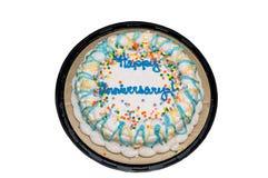Anniversary cake Stock Image
