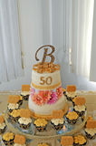 Anniversary cake. Image of a 50th anniversary cake Stock Photos