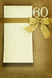 Anniversary card. On golden background Royalty Free Stock Photos