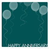 Anniversary Card. Or background drawn in Illustrator CS3 Stock Photos