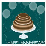 Anniversary Card. Or background drawn in Illustrator CS3 Stock Photo