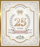 Anniversary card 25 years Royalty Free Stock Photos