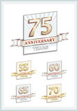 Anniversary card 75 years Royalty Free Stock Photos