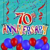 Anniversary celebration background with confetti and balloon. Illustration of Anniversary celebration background with confetti and balloon Stock Photo
