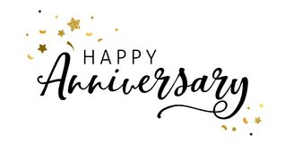 Anniversary celebration design, Lettering and typography Stock Image