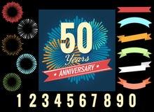 Anniversary celebration logo elements Stock Photos