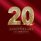 Anniversary celebration logotype.20th anniversary logo.disco numbers. Anniversary celebration logotype.20th anniversary logo.disco logo number anniversary Royalty Free Stock Photos