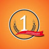 Anniversary celebration of numbers background.  illustrati. On Royalty Free Stock Photo