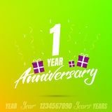 Anniversary celebration set. Anniversary background with numbers, festive elements and decorations Royalty Free Stock Image
