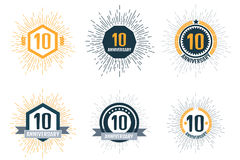 Anniversary 10 color set. Vector illustration. Anniversary 10 color set, vector Royalty Free Stock Photos