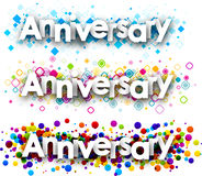 Anniversary colour banners. Royalty Free Stock Photo