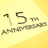 Anniversary concepts. Engraving of 15th anniversary words, for celebrations. 3d render Royalty Free Stock Images
