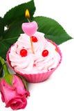 Anniversary cupcake Stock Image