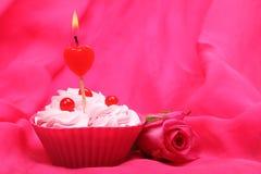 Anniversary cupcake Stock Photo