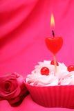 Anniversary cupcake Stock Photos