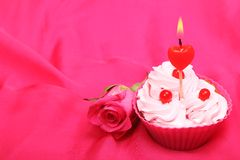 Anniversary cupcake Royalty Free Stock Photo