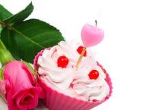 Anniversary cupcake Royalty Free Stock Photos