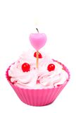 Anniversary cupcake Royalty Free Stock Images
