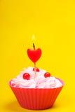 Anniversary cupcake Royalty Free Stock Photo