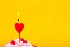 Anniversary cupcake stock photography