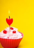 Anniversary cupcake Royalty Free Stock Photography