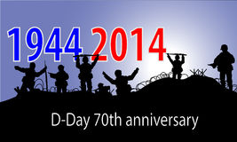 Anniversary of D-Day Stock Photography